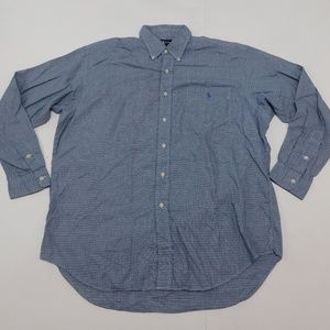 Ralph Lauren L Blue Button Down Shirt Blaire Cotto
